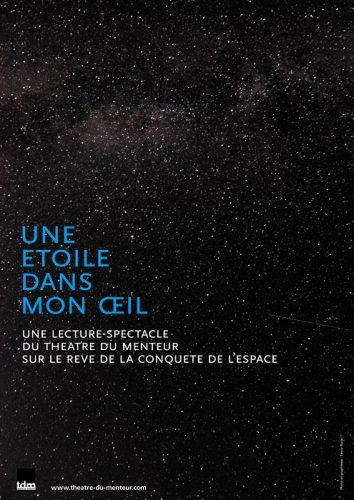 Une étoile dans mon œil, lecture-spectacle du Théâtre du Menteur - graphisme © Timor Rocks