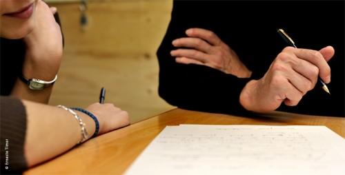 Au cours d'un café à écrire (Paris XII, déc. 2008)