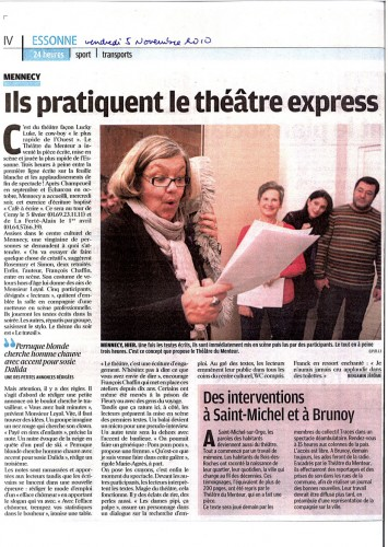 Le Parisien, 5 novembre 2010