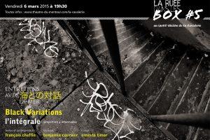 Ruée dans les box #5, mars 2015:<br/>Black Variations, de François Chaffin et Ernesto Timor