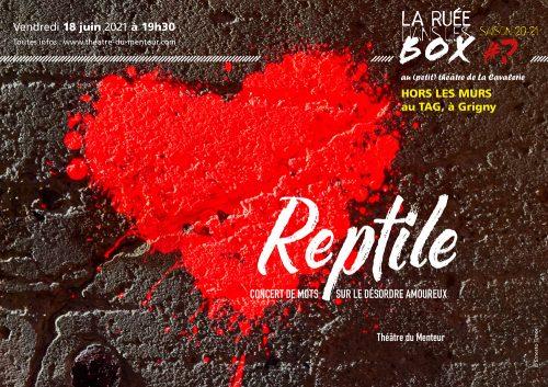 Photo et graphisme © Timor Rocks ! - Reptile (version de poche)